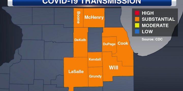 """نقشه خطر CDC COVID: شهرستان کوک ممکن است دستورالعمل های ماسک را صادر کند زیرا داده ها انتقال """"قابل توجه"""" COVID-19 را نشان می دهد"""